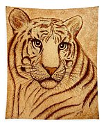 Royal Tiger Coffee Painting Tapestry