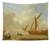 Royal Yacht Becalmed At Anchor Tapestry