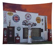 Rt 66 Dwight Il Roadside Attraction Tapestry