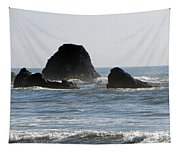 Ruby Beach Sea Stack Tapestry