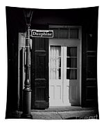 Rue Dauphine French Quarter New Orleans-monochrome Tapestry