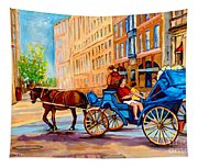 Rue Notre Dame Caleche Ride Tapestry