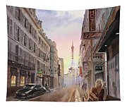 Rue Saint Dominique Sunset Through Eiffel Tower   Tapestry