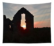 Ruin Of A Hunting Lodge Near Lough Easkey In County Sligo Ireland Tapestry