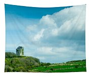 Ruins Of Irish Castle Tapestry