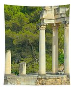 Ruins Of Roman Columns In Glanum  Tapestry