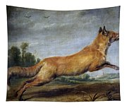 Running Fox Tapestry