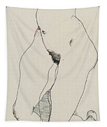 Running Woman Tapestry