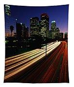 Rush Hour Harbor Freeway Los Angeles Ca Tapestry