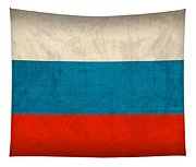 Russia Flag Vintage Distressed Finish Tapestry