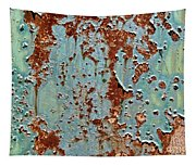 Rust And Paint Tapestry