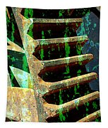 Rusted Gears Abstract Tapestry
