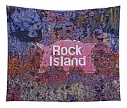 Rusted Rock Island Line Train Car Tapestry
