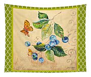 Rustic Blueberries On Moroccan Tapestry