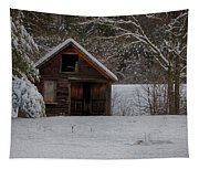 Rustic Shack After The Storm Tapestry