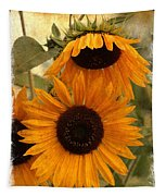 Rustic Sunflowers Tapestry