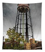 Rustic Water Tower Tapestry