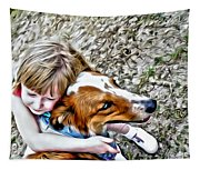 Rusty Dog Love Tapestry