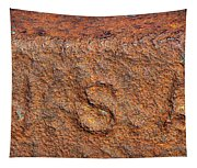 Rusty Letters Usa Tapestry