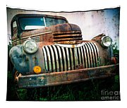 Rusty Old Chevy Pickup Tapestry