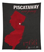 Rutgers University Scarlet Knights Piscataway Nj College Town State Map Poster Series No 092 Tapestry