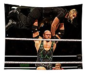 Ryback And Shield Tapestry