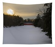 Sachs Covered Bridge At Sunrise In Winter Tapestry