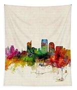 Sacramento California Skyline Tapestry by Michael Tompsett