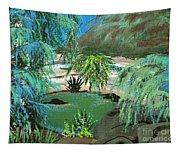Sacred Cenote At Chichen Itza Tapestry