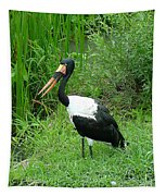 Saddle Billed Stork-136 Tapestry