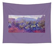 Sage Brush In Winter Light Tapestry