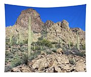 Saguaro On The Apache Trail Tapestry