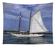 Sailboat In Cape May Channel Tapestry