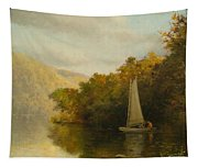 Sailboat On River Tapestry