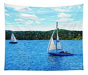 Sailboats In The Summer Tapestry