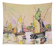 Sailing Boats At Les Sables D Olonne  Tapestry
