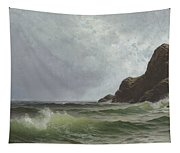 Sailing Off The Coast Tapestry