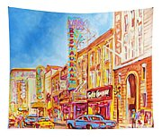 Saint Catherine Street Montreal Tapestry