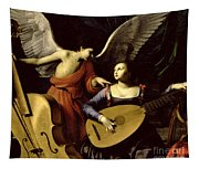 Saint Cecilia And The Angel Tapestry