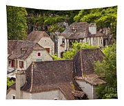 Saint Cirq Rooftops Tapestry