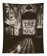 Saint Louis Cathedral New Orleans Black And White Tapestry