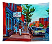 Saint Viateur Bagel Shop Tapestry