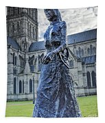 Salisbury Cathedral And The Walking Madonna 2 Tapestry