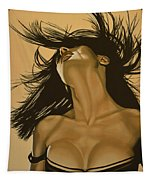 Salma Hayek Tapestry by Paul Meijering