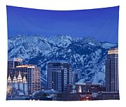 Salt Lake City Skyline Tapestry