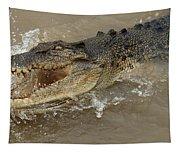 Saltwater Crocodile Tapestry
