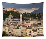 Salzburg After The Storm Tapestry