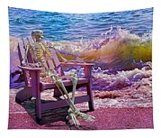 A-loon On The Beach  Tapestry
