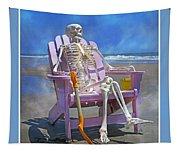 Sam Enjoys The Beach -- Again Tapestry