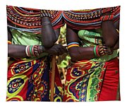 Samburu Women Dancing Kenya Tapestry